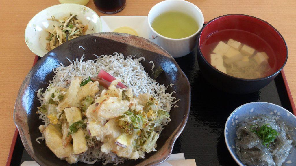 ちりめん丼+かき揚げセット